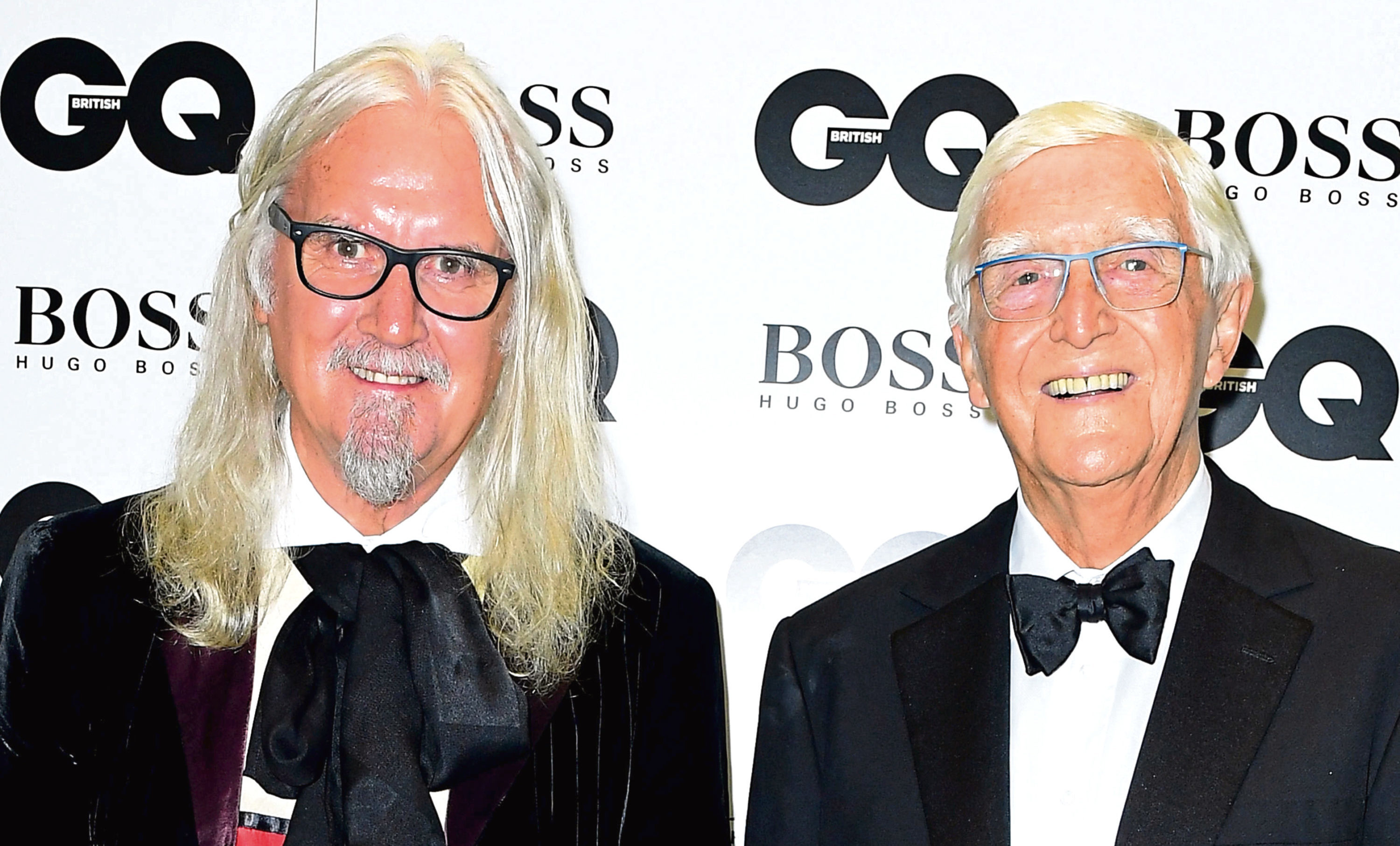 Sir Michael Parkinson (right) and Sir Billy Connolly
