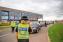 Police at North East Campus last week after complaints over safety