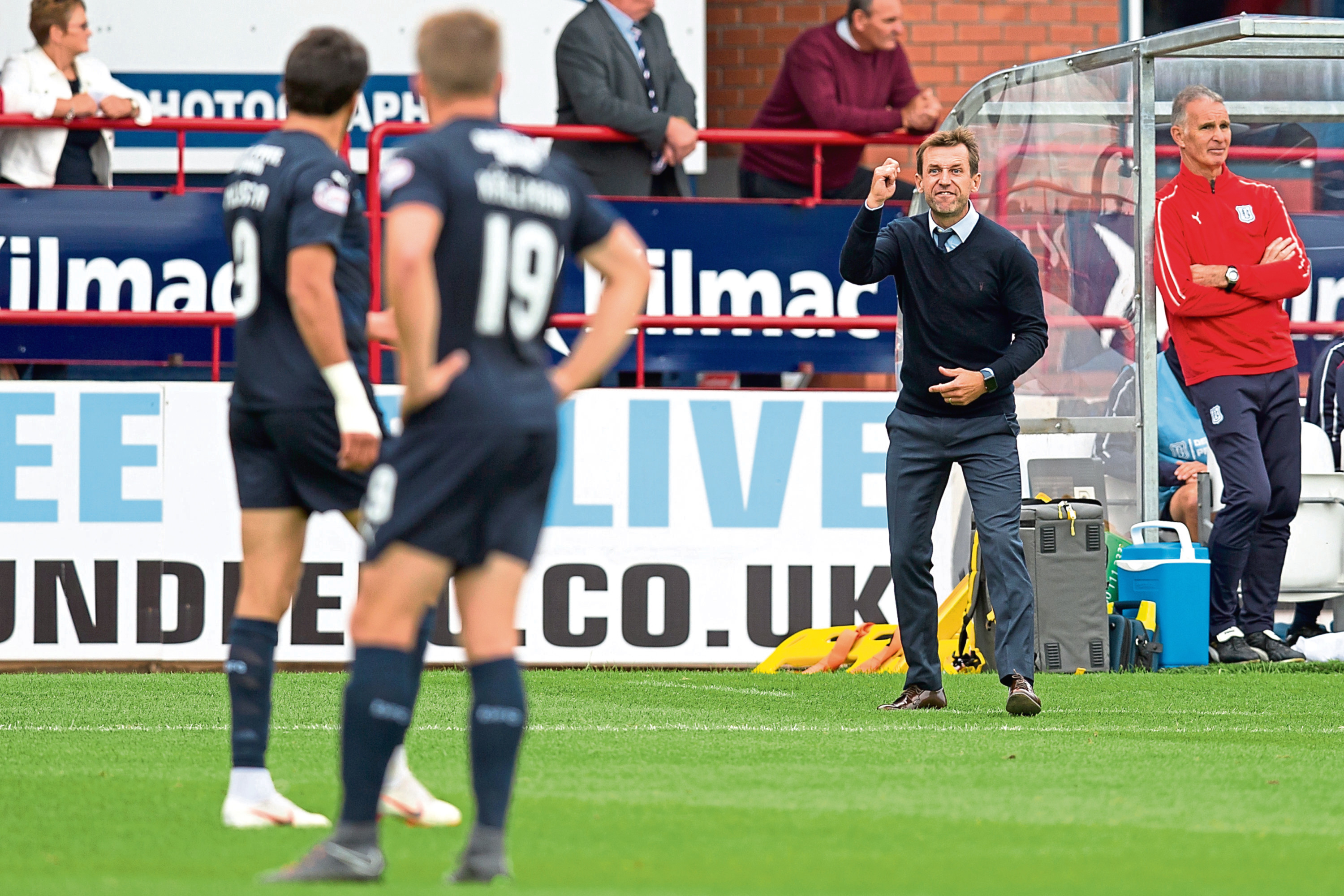 Dundee boss Neil McCann sends striker Sofien Moussa a warning after the substitute was lucky to escape a second yellow, a warning he didn't heed