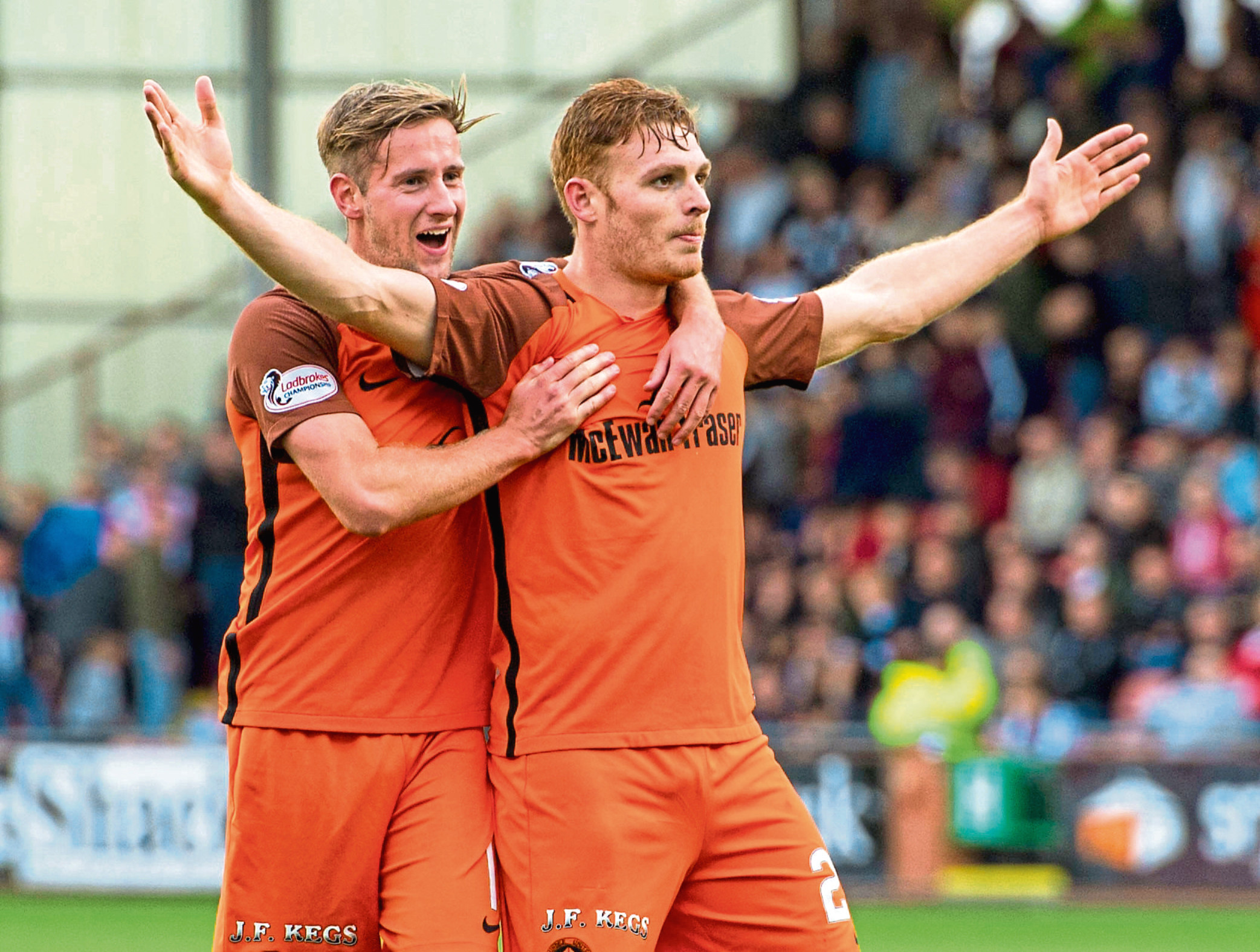 Club captain Fraser Fyvie (right) has been out of action since December after seriously injuring his knee while Billy King has been out all season.