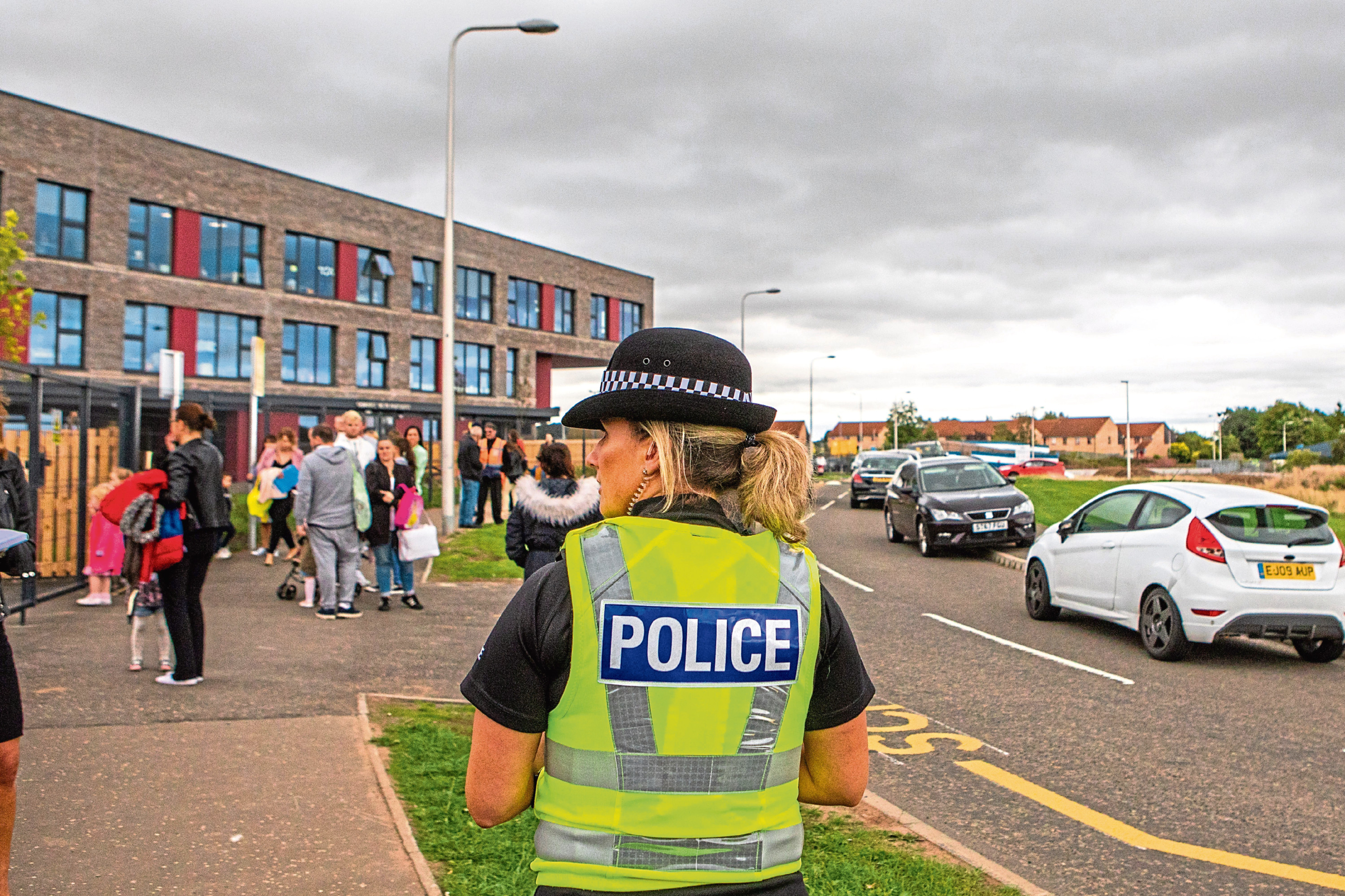 Police have been directing traffic at the new North East Campus