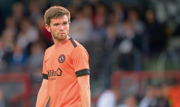 Sam Stanton in action for Dundee United