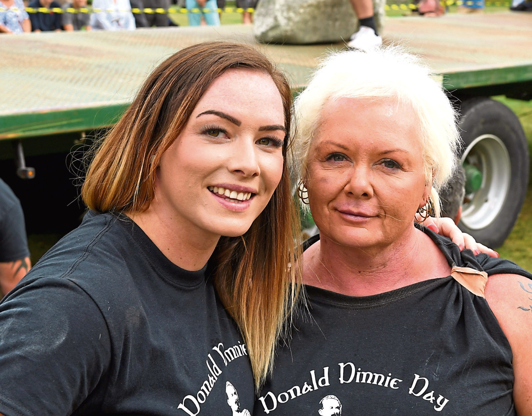 Leigh Holland-Keen (left) with her mother Susan who also attempted to lift the stones.