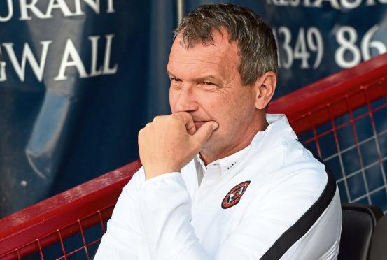Dundee United manager Csaba Laszlo.