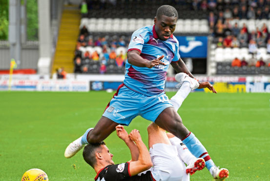 It's not been the easiest start to his career at Dens Park, though, Elton Ngwatala has been one of the shining lights for Dundee this season and got on the scoresheet against St Mirren.