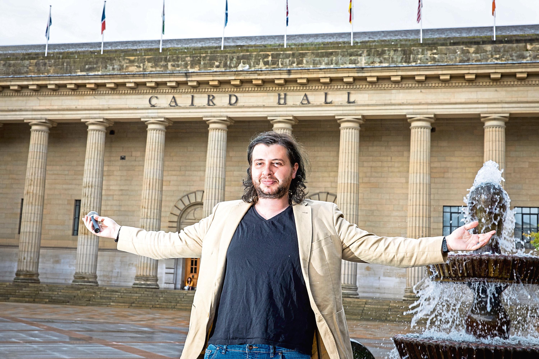 Comedian Luis Alcada, organiser of Icebreaker