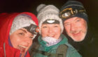 Aimee Ross, younger sister Adrienne Dale and stepdad Brian Dale at the top of Ben Nevis