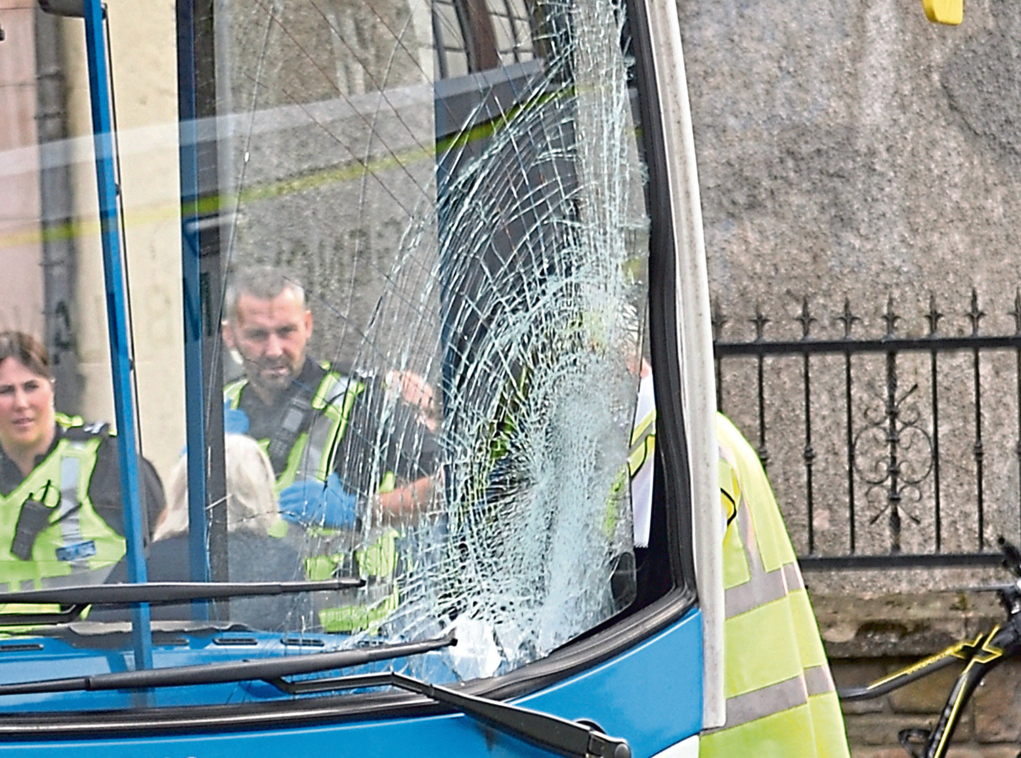 Scene of the bus accident in Perth