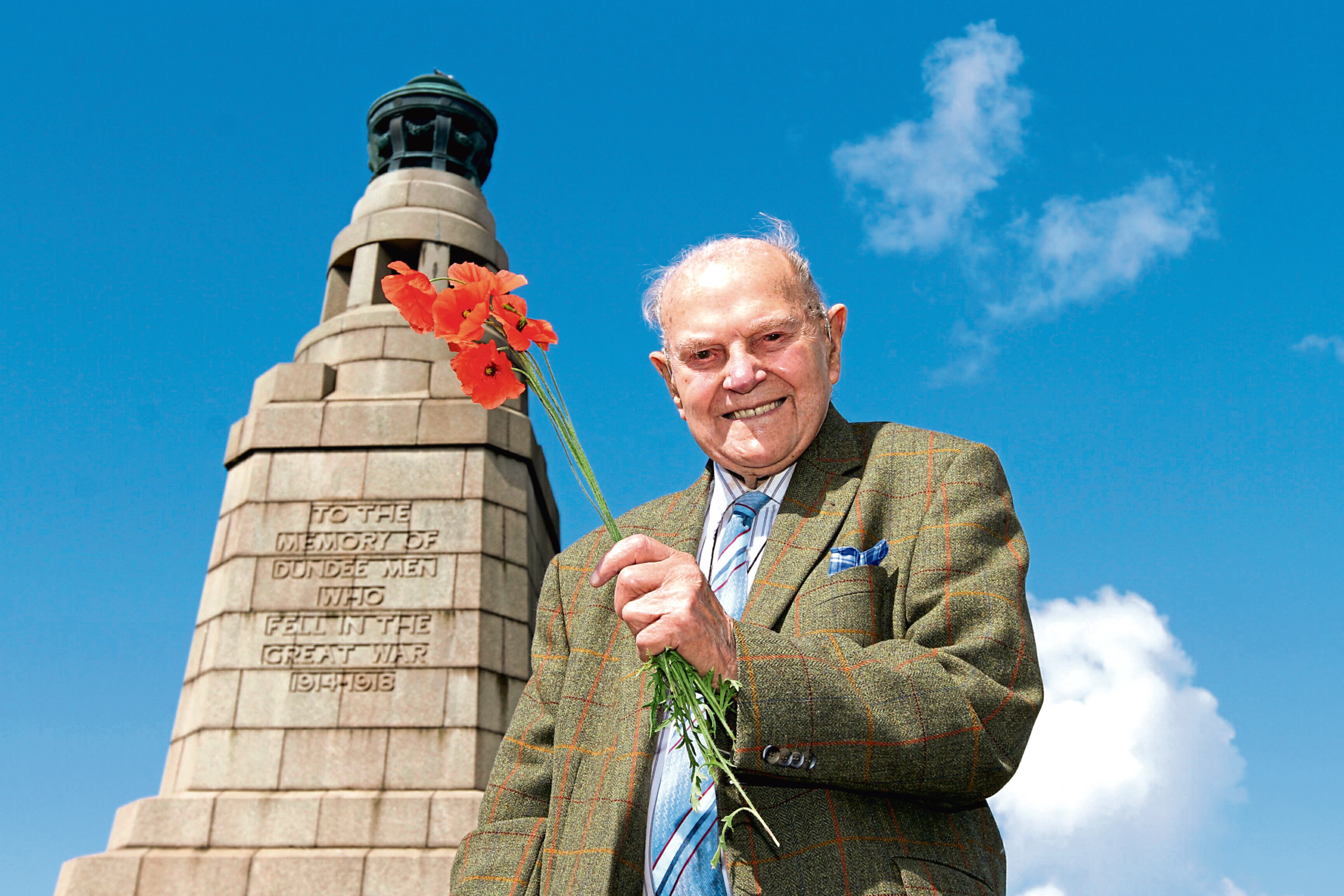 Jack Stephen pictured on top of the Law when he was a sprightly 100 years old.