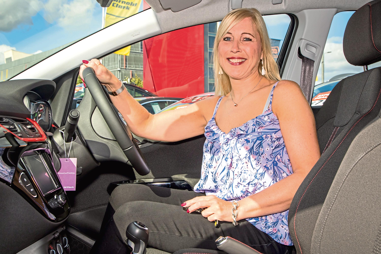 Mhairi Robertson behind the wheel