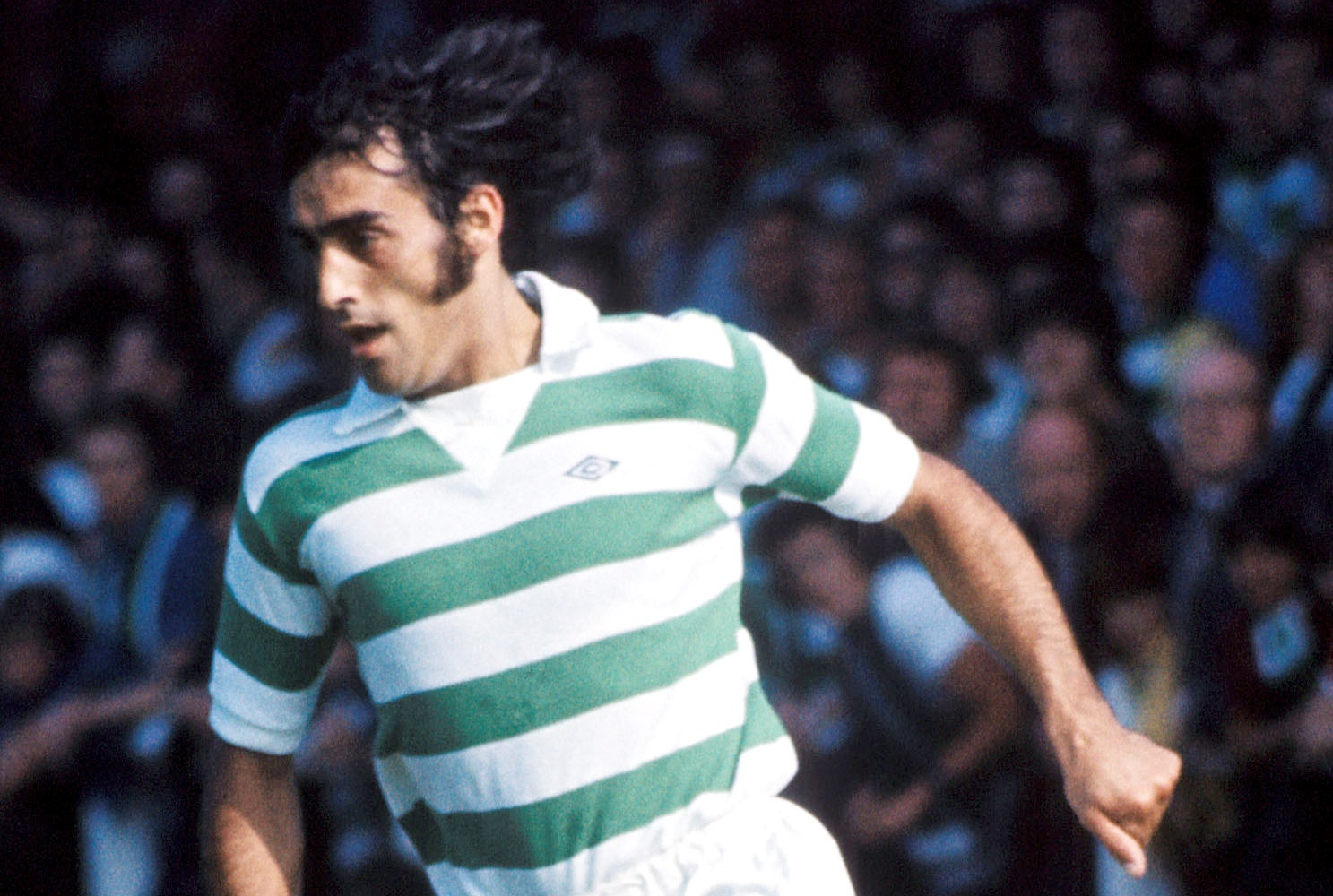 Paul Wilson in action for Celtic in 1976.