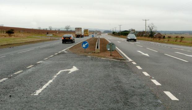 A90 near the Marykirk junction