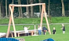 one of Dundees newest parks, built at a cost of £400,000, has been trashed by vandals. The Tele has been handed photographs taken by an eye witness who watched the vandalism taking pace. Police Scotland confirmed today that they are investigating after the playpark at Camperdown Park was vandalised last week. Community leaders today condemned the vandalism as shocking and disgusting. A spokesman for Police Scotland said: Police Scotland is investigating vandalism to the playpark area of Camperdown Park, Dundee, between 4.30pm on Thursday, August 16 and 7am on Friday August 17. A large mirror was broken within the play area and other equipment disturbed and thrown around. The eye-witness said: I was in the park around 8.30pm on the night the vandalism happened and saw a group of young people in the act of vandalising the play equipment there. They were hammering at the wooden posts of the swings with a tool of some kind. They also smashed a play glass  mirror. It is so upsetting that they have damaged
