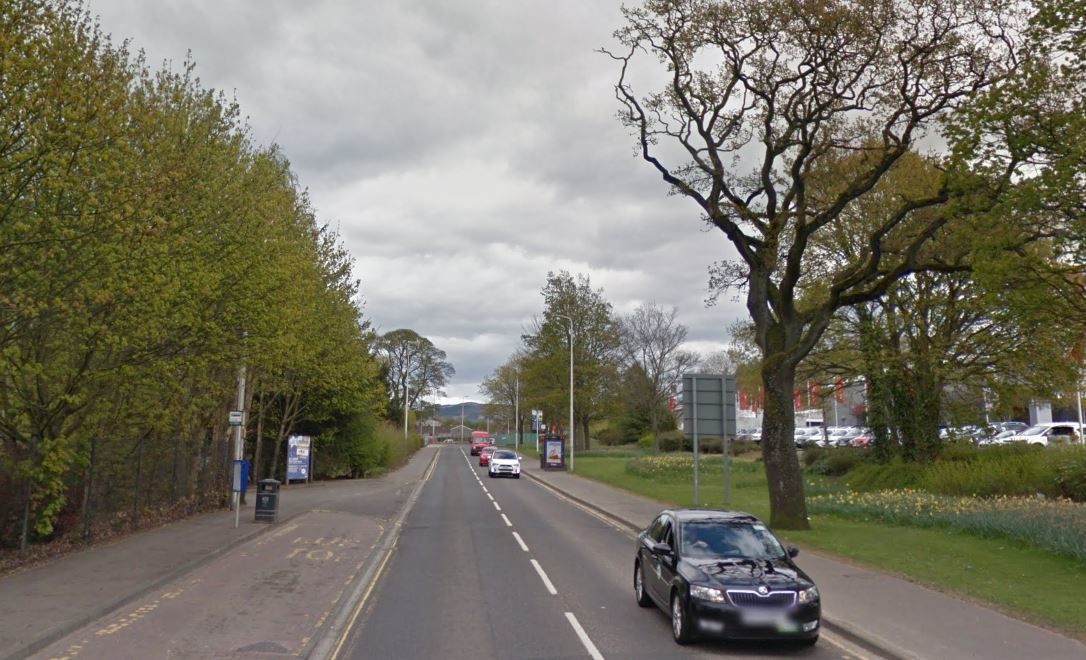 Crieff Road, Perth, near the entrance to McDiarmid Park (stock image)