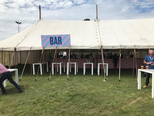 The VIP bar at Rewind, Scone