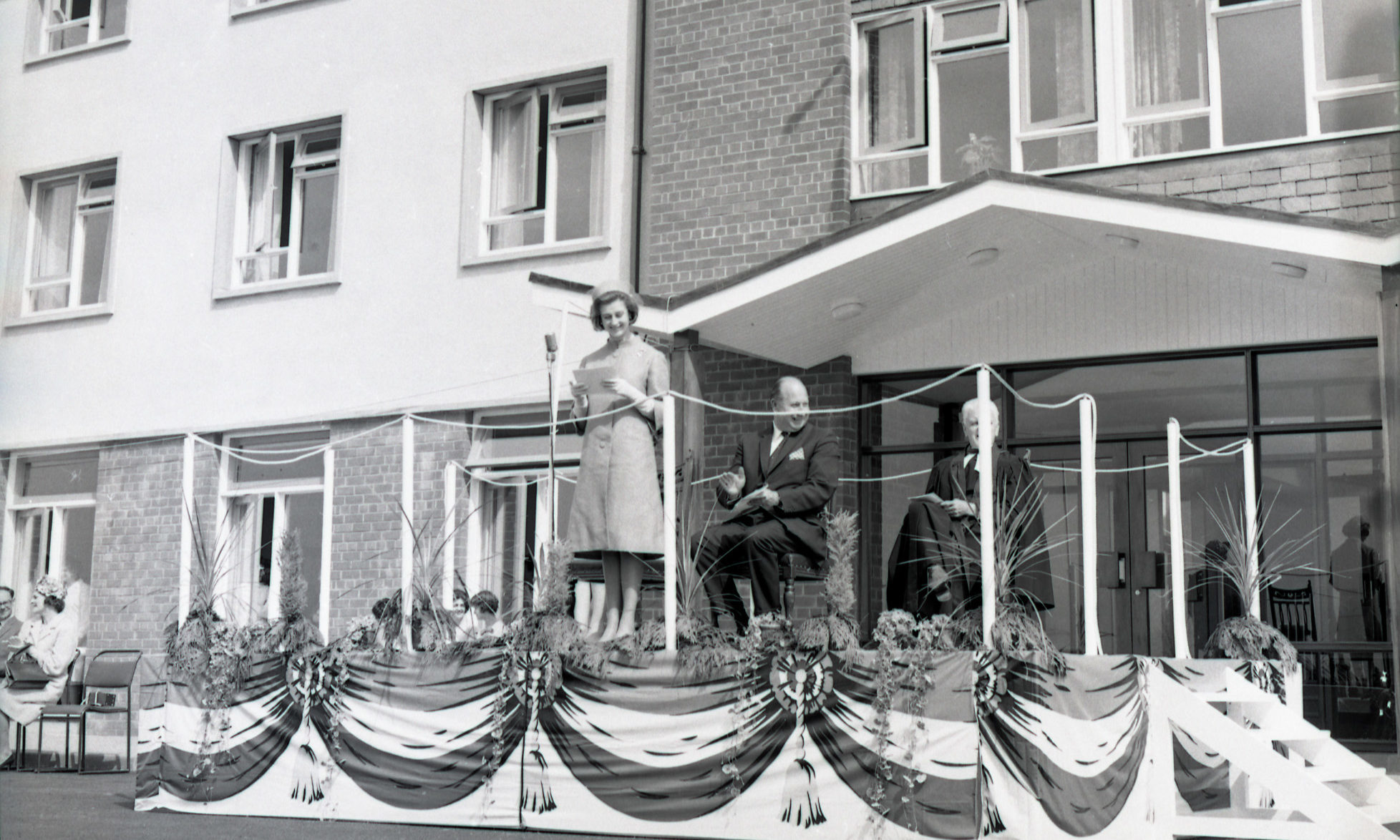 Princess Alexandra in 1965 at the opening of her eponymous house, the Guide Dog Centre in Forfar