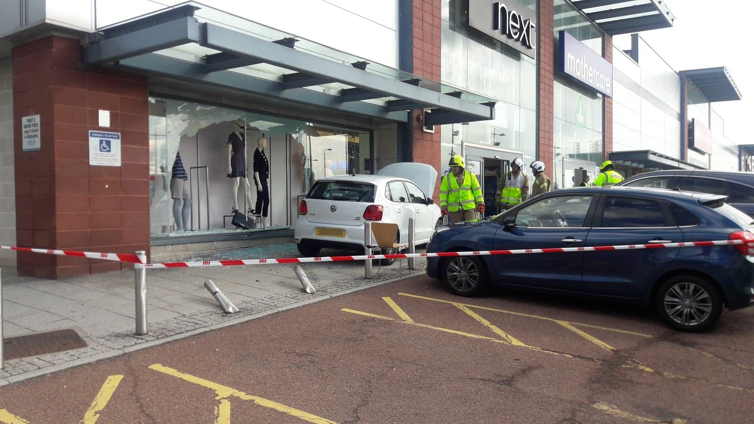 The car at Gallagher Retail Park