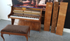 The damaged piano