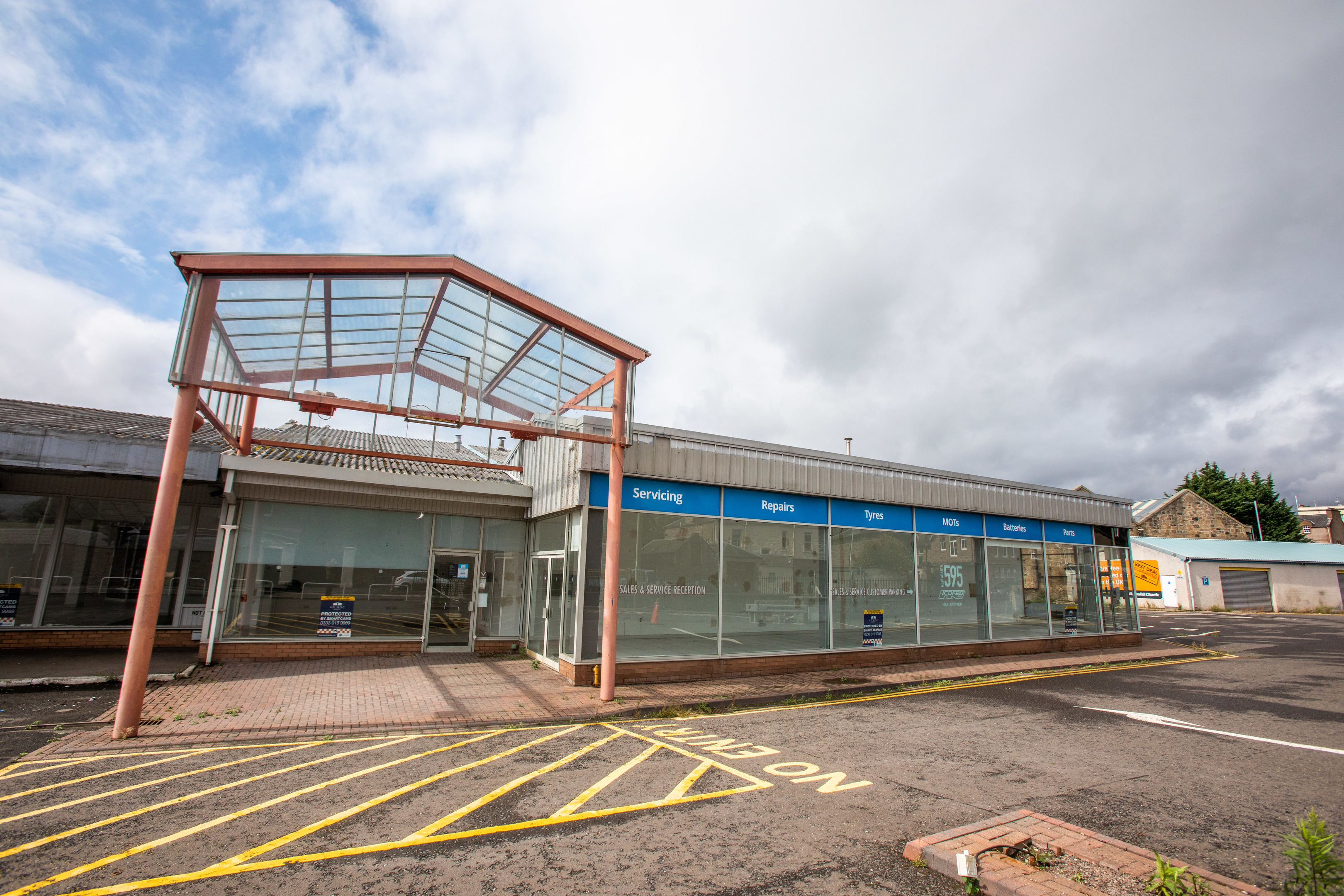 The former Arnold Clark showroom that has been sold to Network Rail