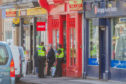 Shelter charity shop in Perth Road, Dundee, after the alleged break-in
