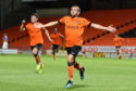 Paul McMullan celebrates his last gasp winner