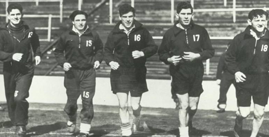 Hibs famous five: Gordon Smith, Bobby Johnstone, Lawrie Reilly, Eddie Turnbull and Willie Ormond.