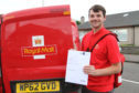 Postie Frankie Bryceland is among the Royal Mail staff pulling out all the stops to deliver SQA results.