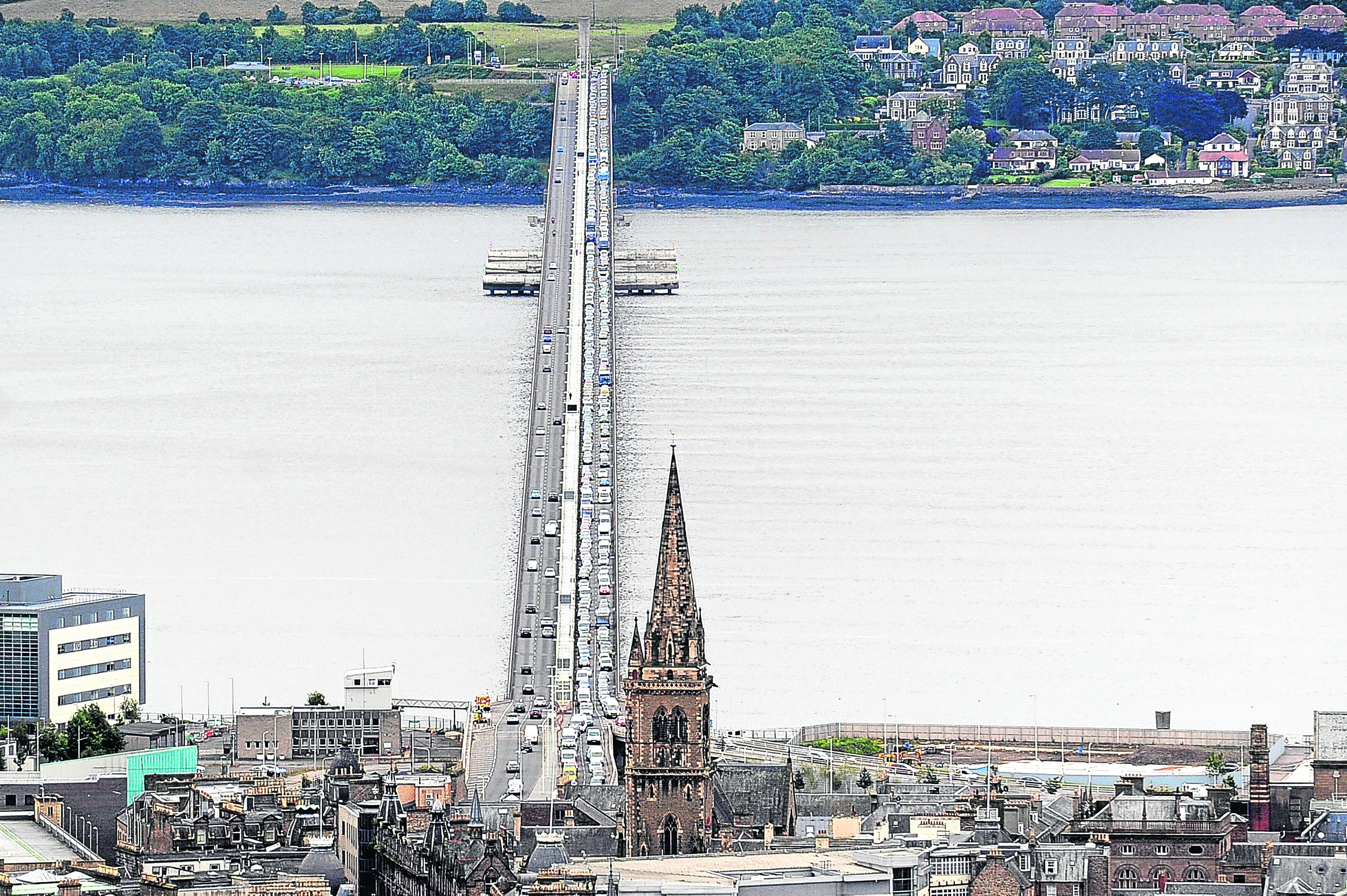 The Tay Road Bridge.