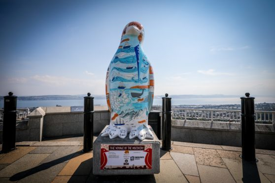 The Voyage of Discovery penguin at Dundee Law