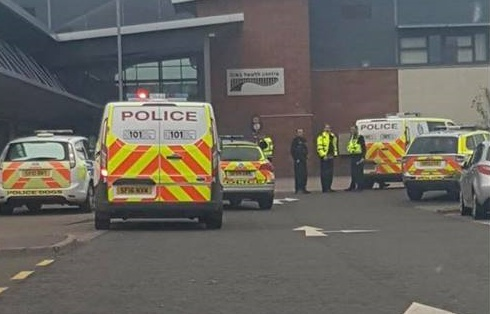 Police at the Links Health Centre in Montrose
