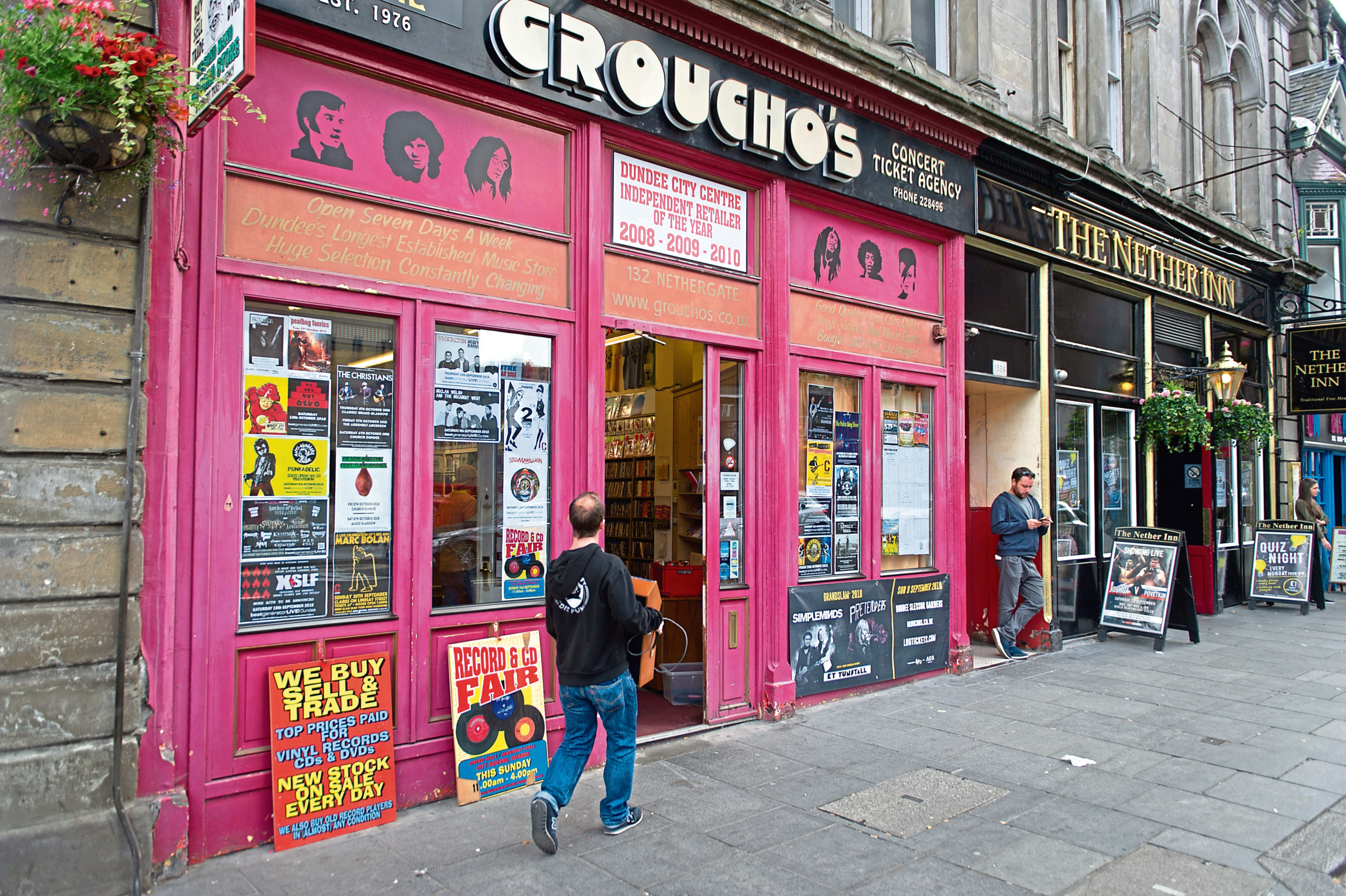 Groucho's record store on the Nethergate.