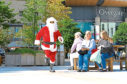 This Santa appears to be making an early start at the promotional event for this year's Santa Dash through the streets of Dundee city centre.