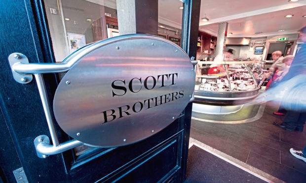 The entrance to the Scott Brothers butchers in the city centre.