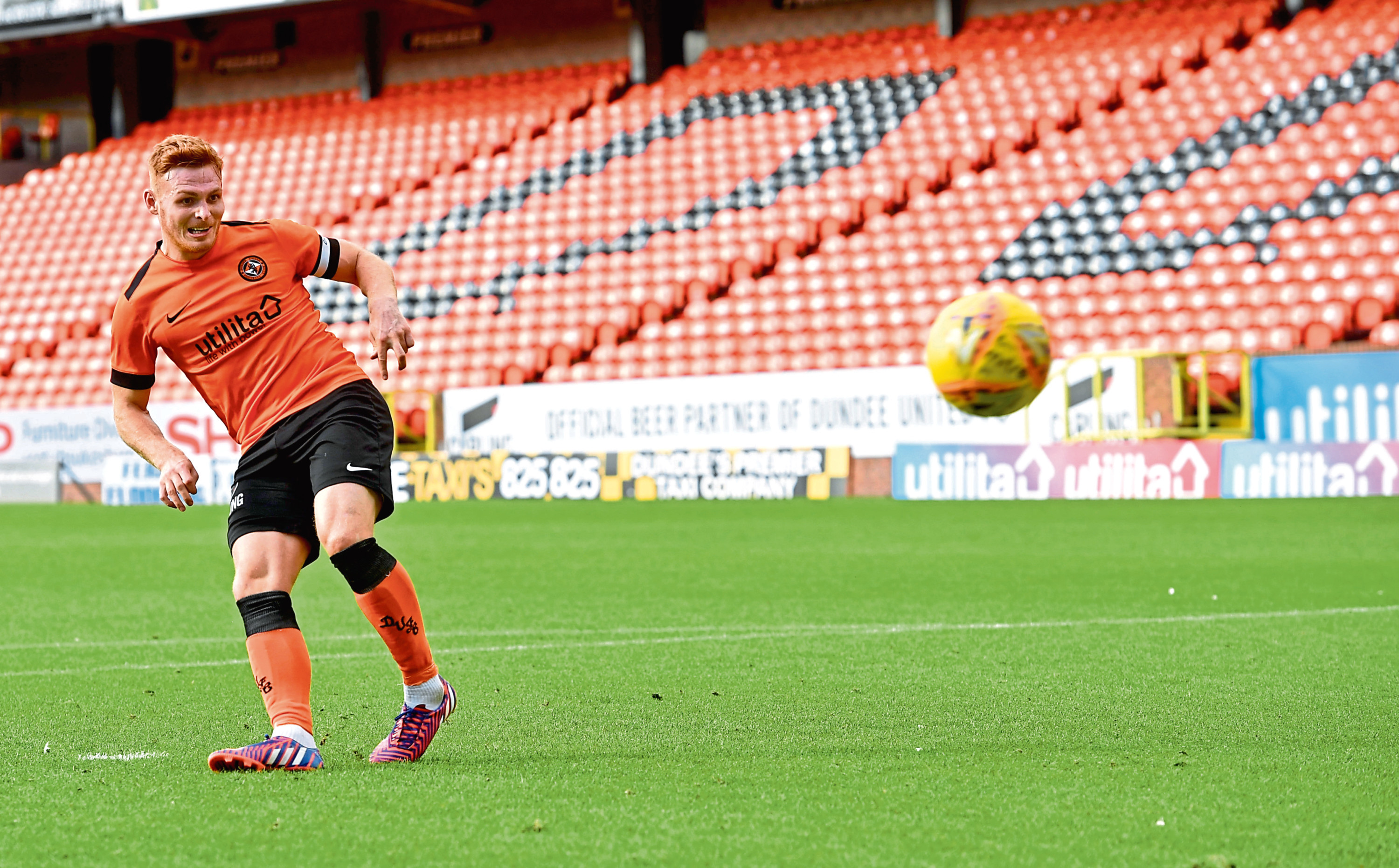 Fraser Fyvie nets from the spot in the penalty shoot-out.