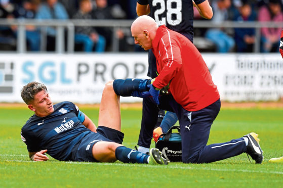 Dark Blues defender Josh Meekings was injured against Motherwell and is a doubt for Saturday's trip to face Rangers at Ibrox.