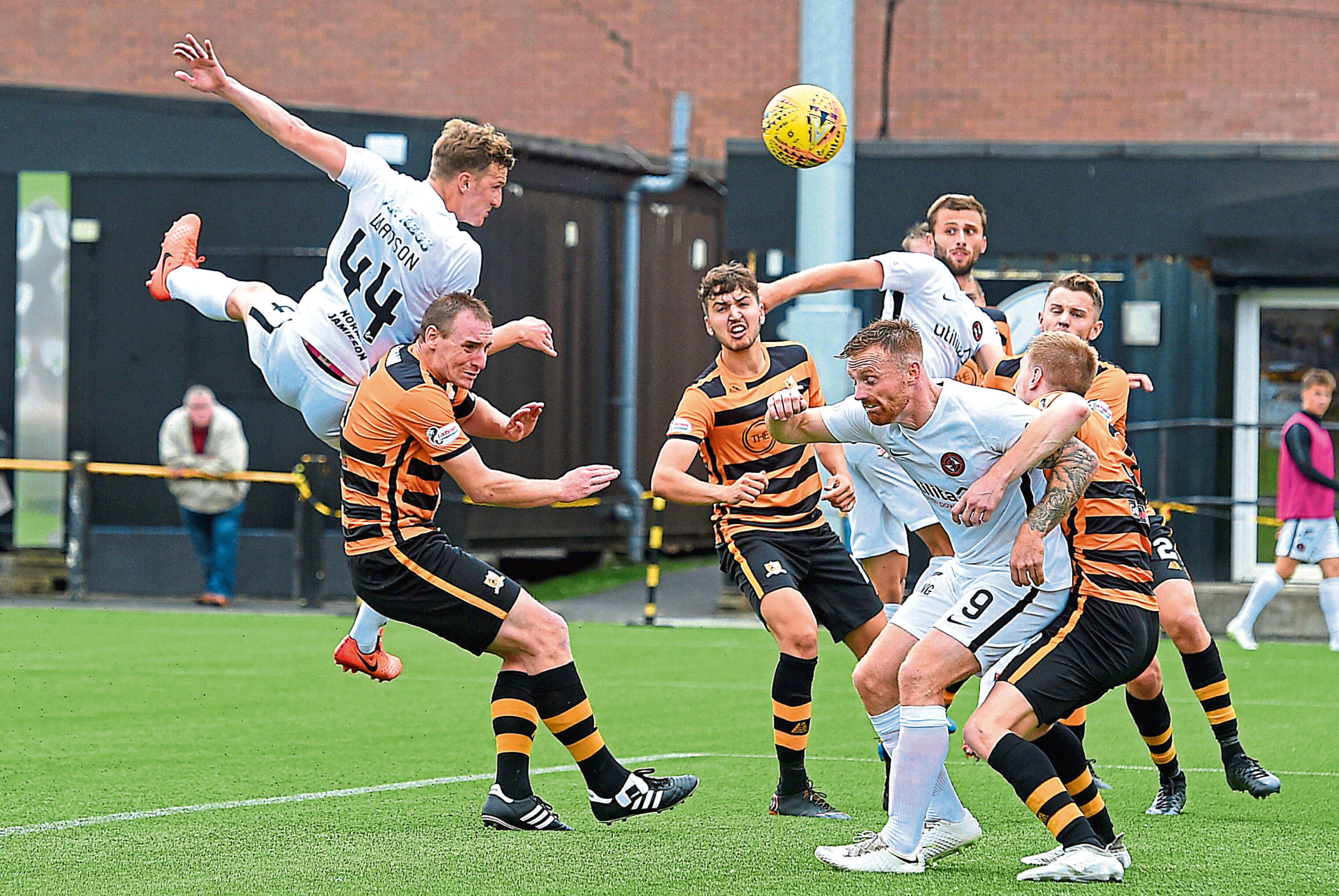 Despite Paul Watson (above) putting them ahead, Dundee United were forced to settle for a point in their last Championship outing against Alloa Athletic at the Indodrill Stadium.