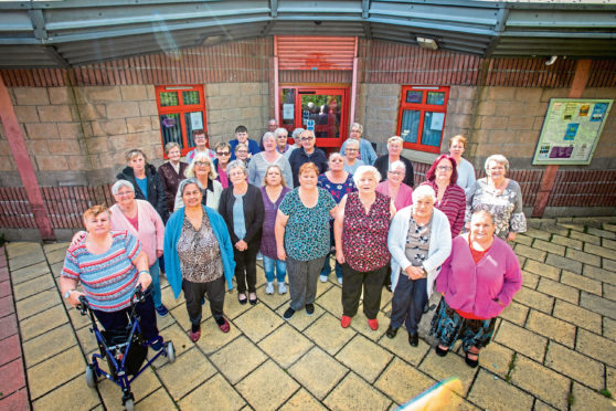 Some of the pensioners outside Fairfield Neighbourhood Centre.