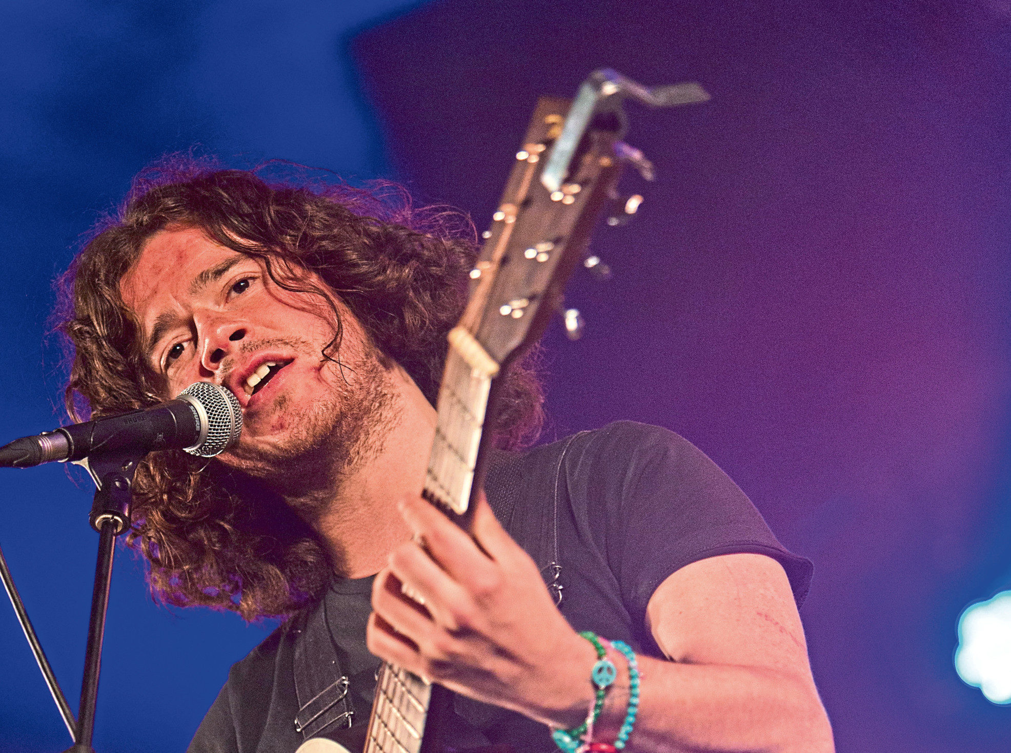 The Kyle Falconer band performs at Carnival 56 in Dundee last year
