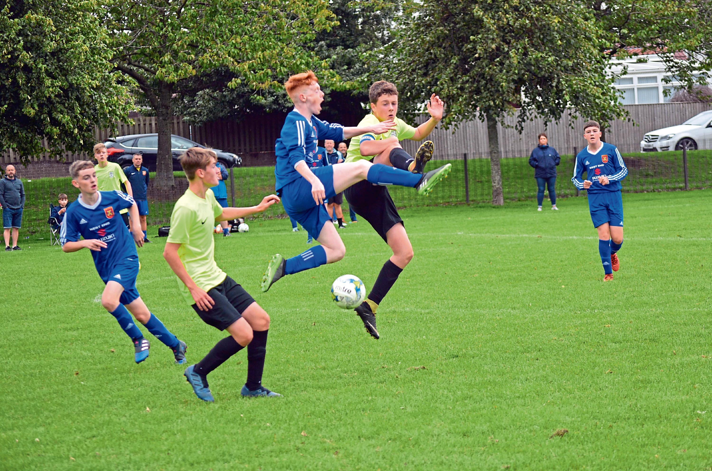 Ferry Athletic v Forfar Boys at Dawson Park