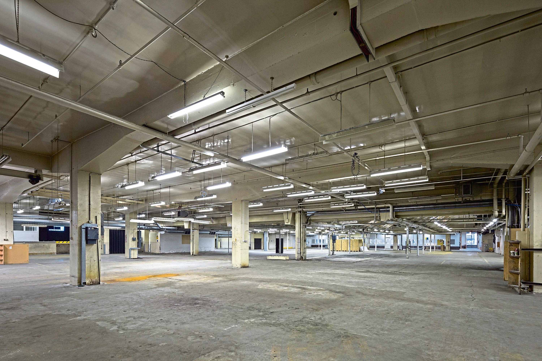 Inside the former printworks