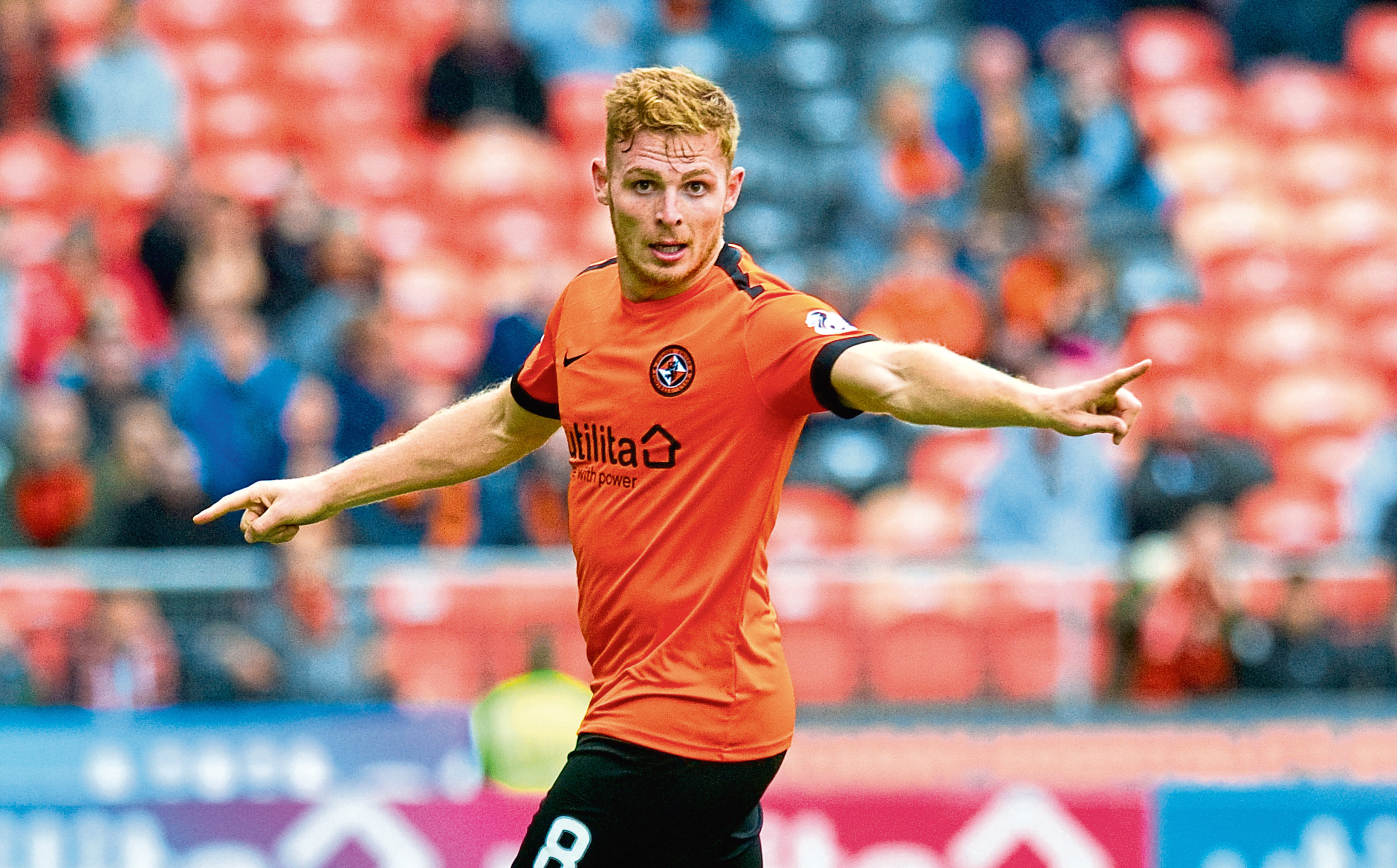 Dundee United captain Fraser Fyvie came off the bench after a long-term injury on Saturday to net a late equaliser in their 1-1 draw with Morton