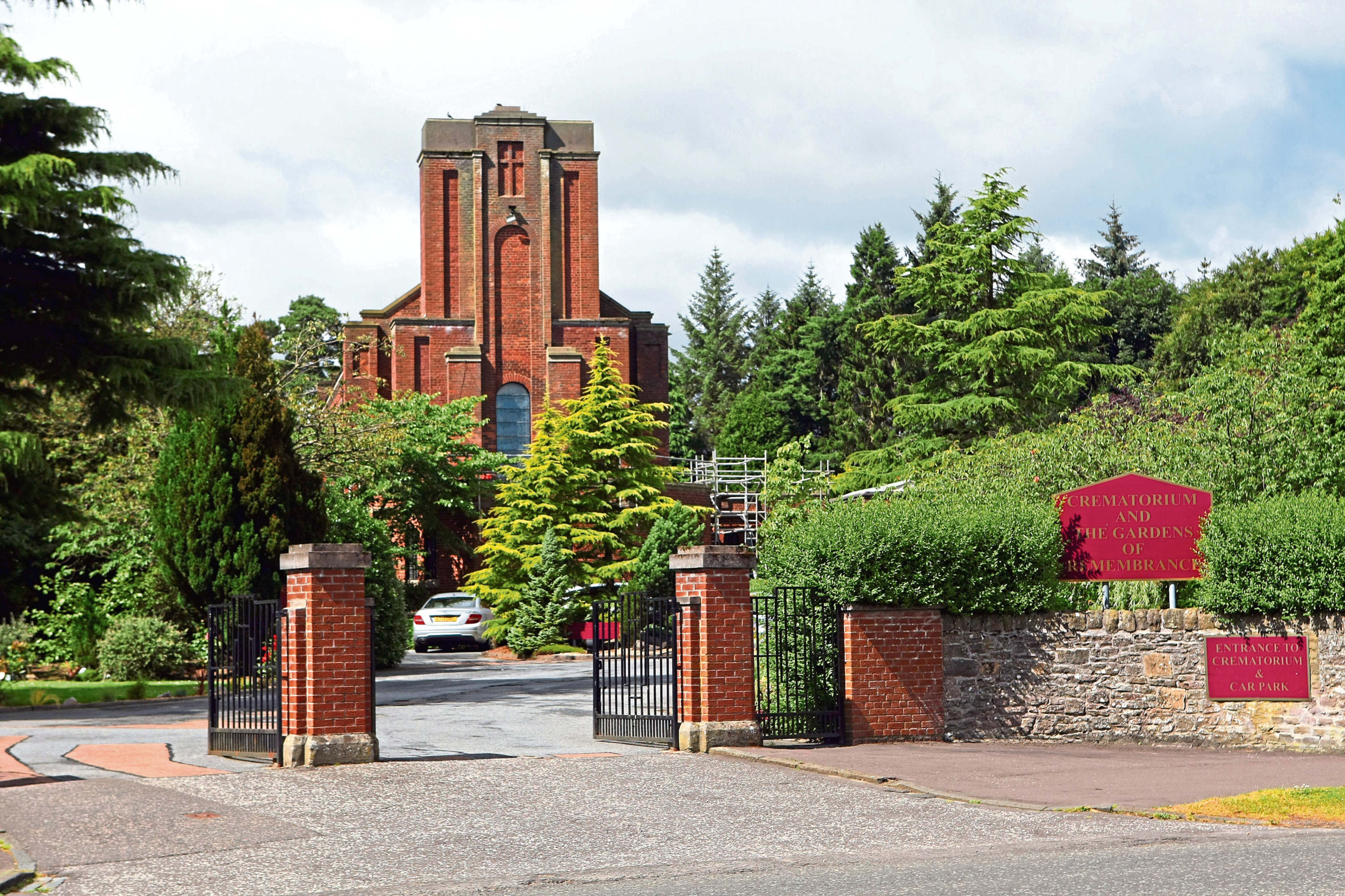 The service will be held at Dundee Crematorium, but will be private due to coronavirus restrictions.