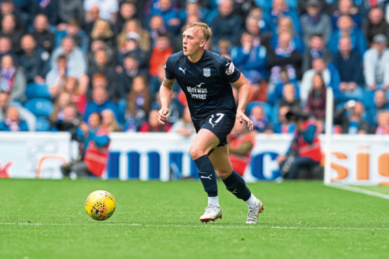 Calvin Miller spent six months on loan at Dundee.