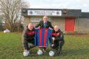 Richard Heggie (treasurer), James Harle (secretary) and Andy Adam (vice chairman) of Monifieth Athletic.