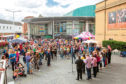 The first Perthshire Pride event was held in the plaza outside Perth Concert Hall