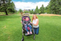 Claire and Maisie pictured on Perth's North Inch where Claire hopes the equipment will be installed
