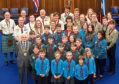 The 5th Downfield Scout Group with Lord Provost Ian Borthwick.