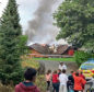 The pavilion fire in July last year