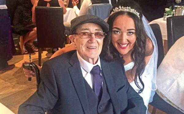 Jenna Galazzi with dad John Farrell on her weddign day