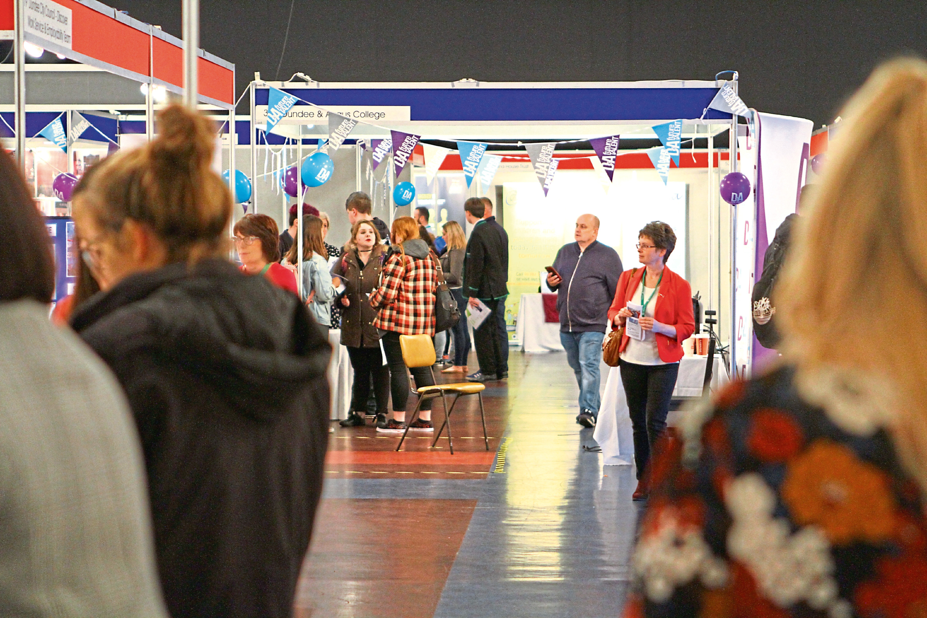 Almost 2,000 people were at the Caird Hall for the fair.